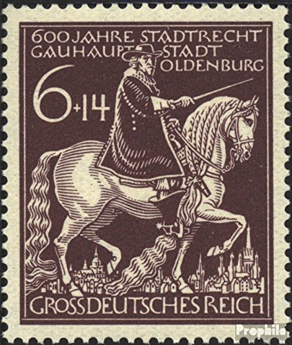 Prophila Collection Deutsches Reich 907 (kompl.Ausg.) 1945 600 Jahre Oldenburg (Briefmarken für Sammler) Pferde