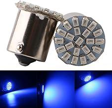 Qasim 10x LED 1156 BA15S P15W P15W 1141 Coche Bombillas Universales para Luz de Marcha Atrás Señal de Giro Posicion Freno como Intermitentes 2406 22SMD 176LM 24V Azul