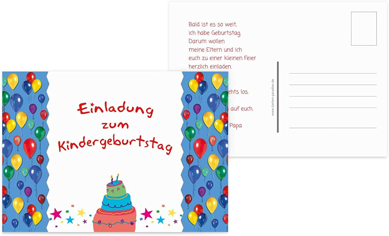 Einladungskarte Luftballon, Luftballon, Luftballon, 50 Karten, Rot B07L1J2QKM   Spielen Sie das Beste  e15703