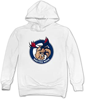 JUST Men's John Albert Deer Logo Manitoba Moose Sweatshirts
