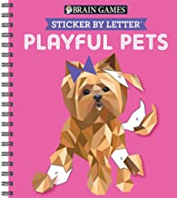 Brain Games - Sticker by Letter: Playful Pets (Sticker Puzzles - Kids Activity Book)