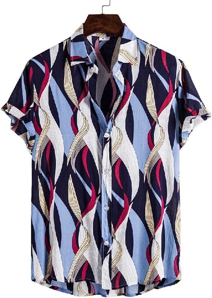 HLMSKD Mens Shirts Streetwear Casual Slim Sleeve Short Shirt Atlanta Boston Mall Mall Fit