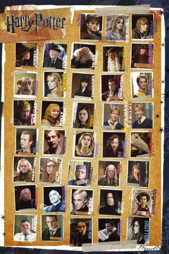Harry Potter Maxi Poster 61 x 91,5 cm Character Montage and the Deathly Hallows Plastifié