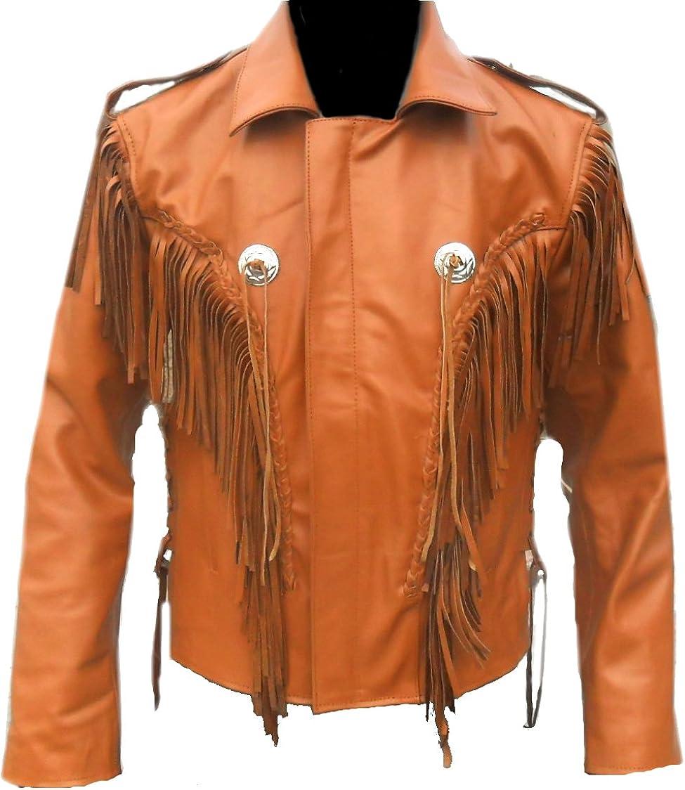 Classyak Western Indian Real Leather Cowboy Jacket, Xs-7xl