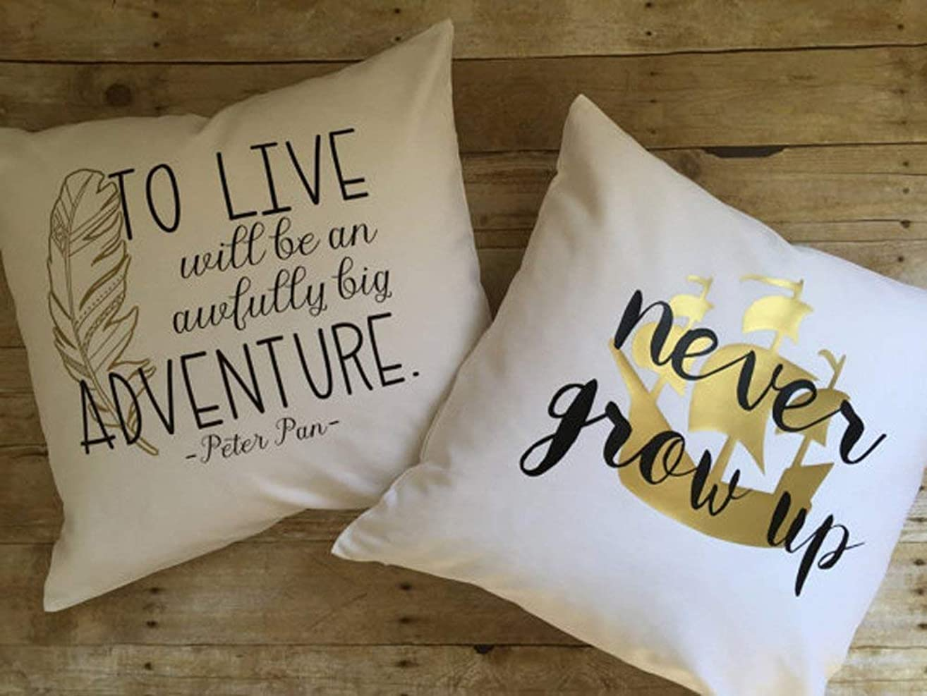 High quality Peter Pan pillow covers set, lost boys rustic decor, never grow up, adventure, pirate theme bedding, Peter Pan bedding, baby boy bedding