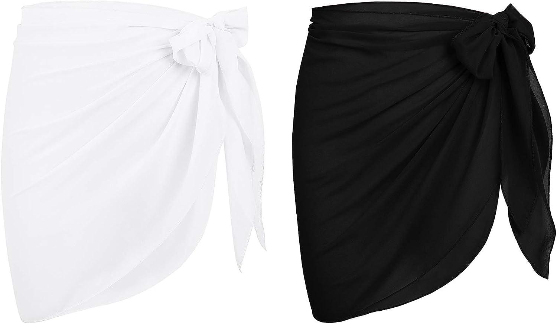 Durio Bikini Cover Ups for Women Beach Cover Up for Swimwear Sheer Bathing Suit Coverups for Women Short Sarong Wrap Skirt