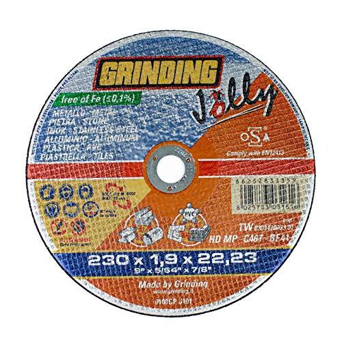 Doorslijpschijf JOLLY 230 x 1,9 f.22,2 GRINDING [GRINDING]