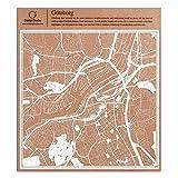 Göteborg Scherenschnitt Karte, Weiß 30x30 cm Papierkunst