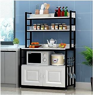 KOKOF Supports de Rangement de Cuisine Multifonctions sur Pied ménagers avec Portes d'armoire black3-80
