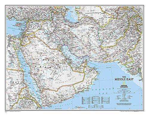 National Geographic: Middle East Classic Wall Map - Laminated (30.25 x 23.5 inches) (National Geographic Reference Map)