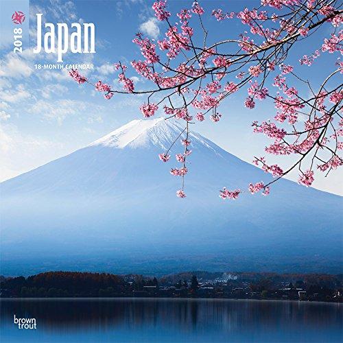 Japan 2018 - 18-Monatskalender mit freier TravelDays-App: Original BrownTrout-Kalender [Mehrsprachig