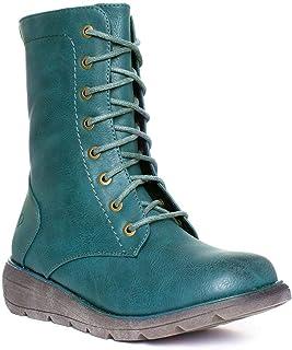 a2cb2420 Heavenly Feet Martina Ocean Womens Blue Ankle Boot