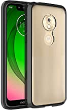 FINON Clear Perfect Body Model [ TPU Bumpers/PC ] for Motorola Moto G7 Play Case with Hybrid Protective Clear and Impact Resistance - Black