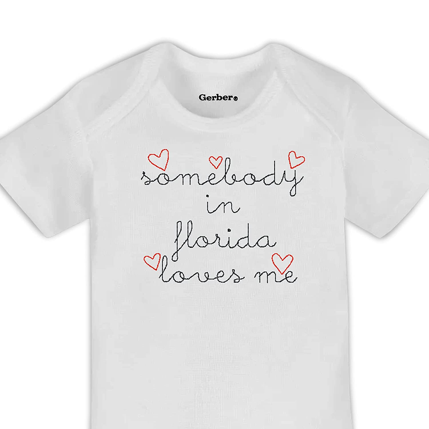 Somebody In Florida Loves Me Shower Phoenix Mall Onesie® New arrival Embroidered Baby
