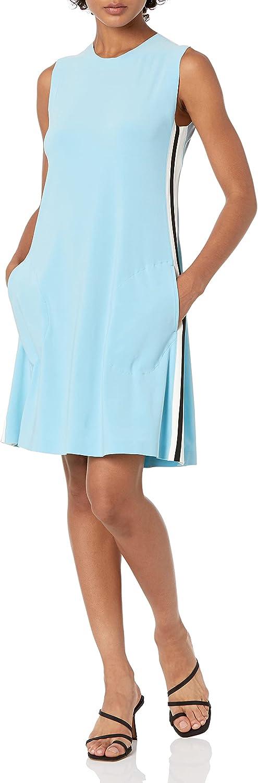 Max 80% OFF Norma Kamali New sales Women's Side Dress Sleeveless Swing Stripe