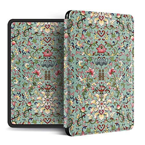 EWUEJNK Case Fits Kindle Ultra Thin Magnetic Smart Soft Silicone Cover for Kindle 2019 10Th Generation   2018 Paperwhite 4 Protective Case, Creative Arts Floral Pattern,Style 5,for No.Pq94Wif