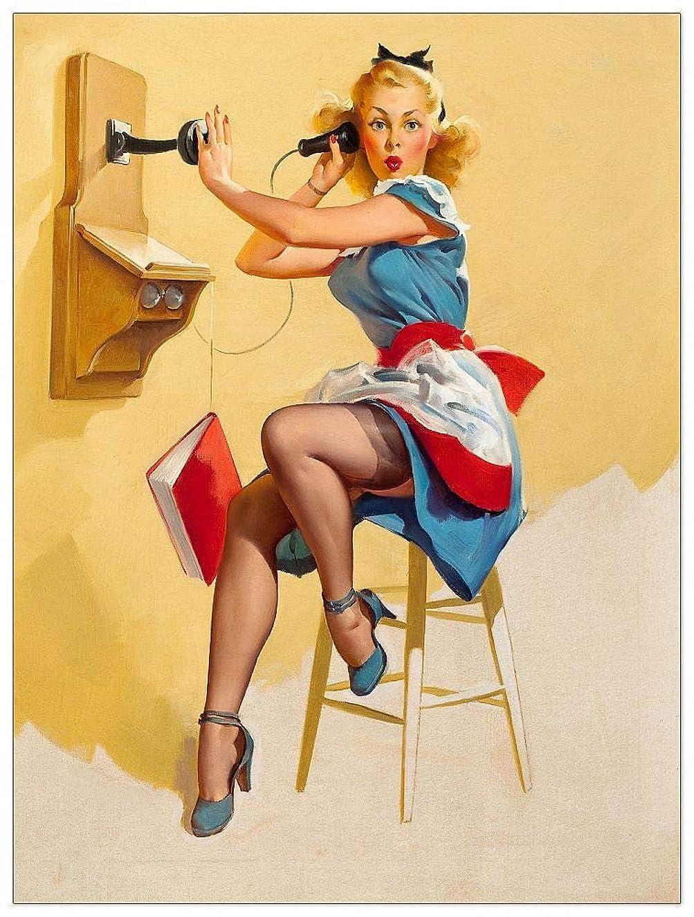 ArtPlaza TW92351 Art Studio - Hallo ? Decorative Panel 27.5x35.5 Inch Multicolored
