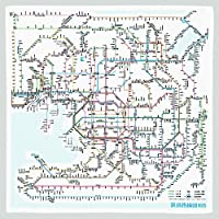 東京カートグラフィック 鉄道路線図ハンカチ 関西 日本語 RHKJ