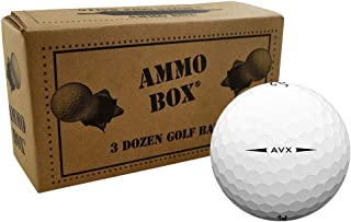 Titleist AVX Near Mint Recycled Used Golf Balls 36-Ball Ammo Box