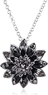 Spidergirl Black Dahlia Crystal Pendant Necklace Gift from Michel Jones Necklace Jewelry