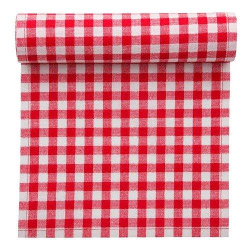 MYdrap 20x20cm Serviettes Vichy rouge pour pique-nique/barbecue Rouleau de 12pcs Rouge