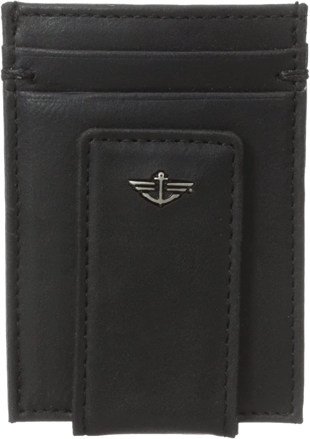Dockers Men's Slim Series Card Holder With Magnetic Bill Clip