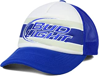 Budweiser Bud Light Beer Men's Anheuser-Busch Flash Foam Trucker Hat Cap - Blue