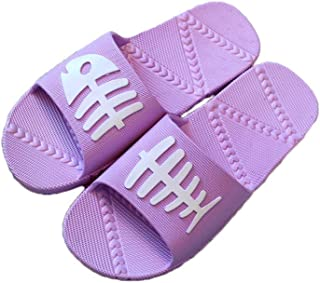 YAXY Simple Lady Woman's Man's House Indoor & Outdoor Slippers Casual Shoes Light Weight Anti-Slip Massage Shower Bath Pool Gym Slides Open Toe Comfortable Soft Sandals