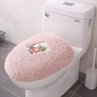 JSJ_CHENG Pink Lid Cover Rose Floral