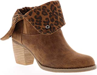 Sbicca Women's Moreen Ankle Boot, tan Leopard 1, 6 M US
