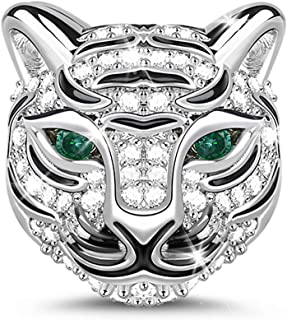 Animal Charms Animal Head Theme Bead 925 Sterling Silver Pendant Fits Bracelet Necklace Women Men Girls Boys Gifts