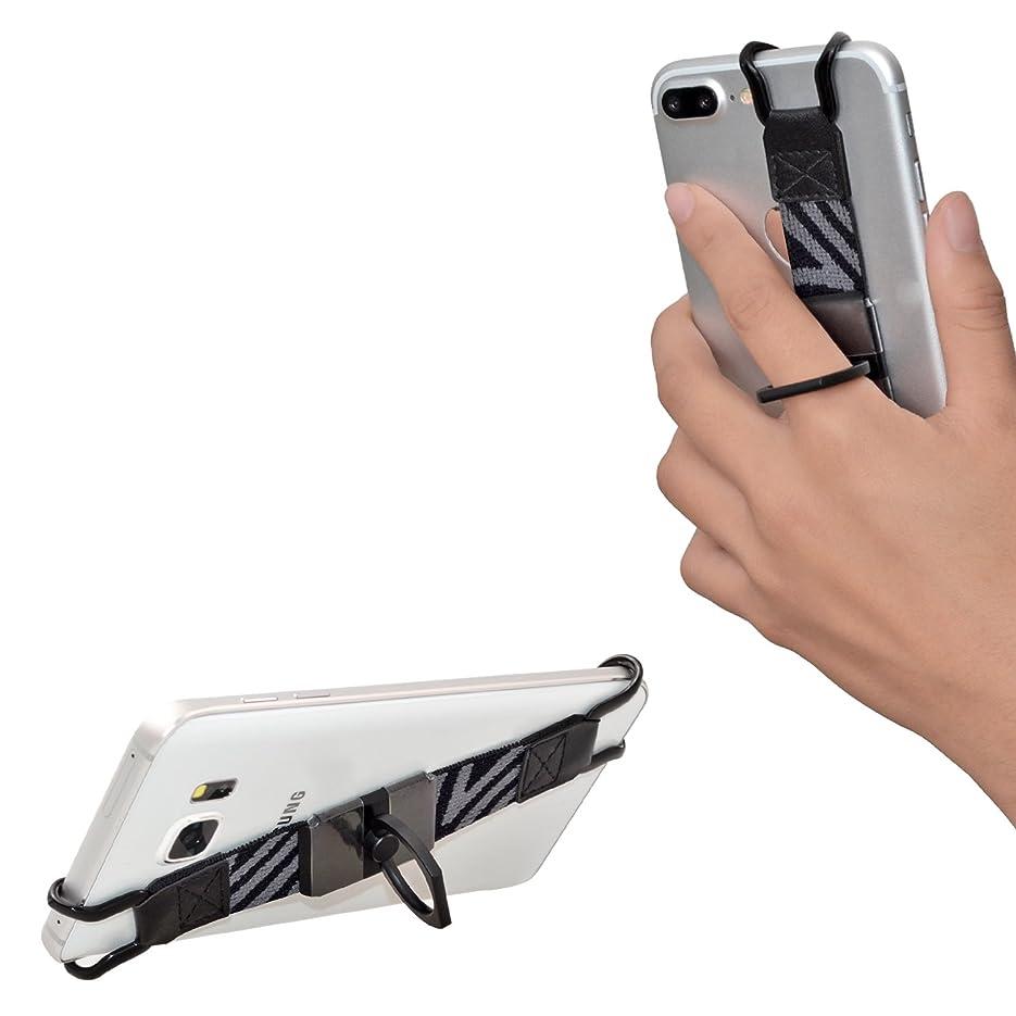 構想する市民過言TFY ハンドストラップ 360℃回転金属製リングスタンド付きーーiPhone 7 / 7 Plus - 6 / 6s (Plus) - SE - Samsung Galaxy Note 3 / 4 / 5 - Samsung S6 Edge (Plus) / S7 Edge (Plus) - HUAWEI Mate 9 対応