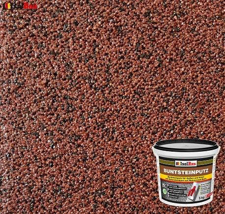 Buntsteinputz Mosaikputz BP80 (rotbraun, schwarz) 5kg Absolute ProfiQualität