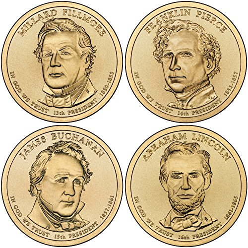 2010 D Complete Set of all 4 Presidential Dollars Uncirculated