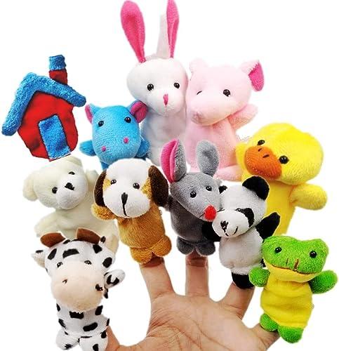 JZK 11 Marionnettes à Doigts Jouet en Peluche marionnette à Main Animale pour Les Enfants Font la fête fête d'anniver...