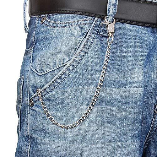 Erfhj Metal Wallet Keychain riem broek Jeans Keychain zilveren ring Keychain