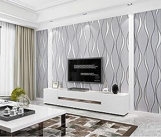 baf75a9bbe1 Papel Pintado No Tejido Raya Estereoscópica 3D Gris Claro Papel De Pared  Dormitorios Salón Hotel Fondo