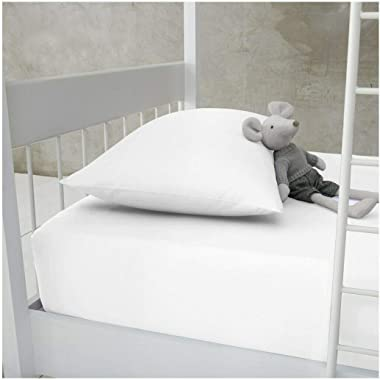 """Narrow Twin, Small Single, Cot Size 30"""" x 75"""" Fitted Sheet, Cotton Blend, Perfect for Camp Bunk Beds, RVs, Guest Beds"""