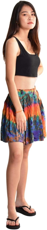 Orient Trail Women's Bohemian Hippie Tie Dye Mini Skirt Small Medium Large X-Large