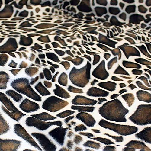 TOLKO 50cm Kurzhaar Kunstfell als Meterware - tolle Tierfell-Imitat Stoffe (Giraffe)