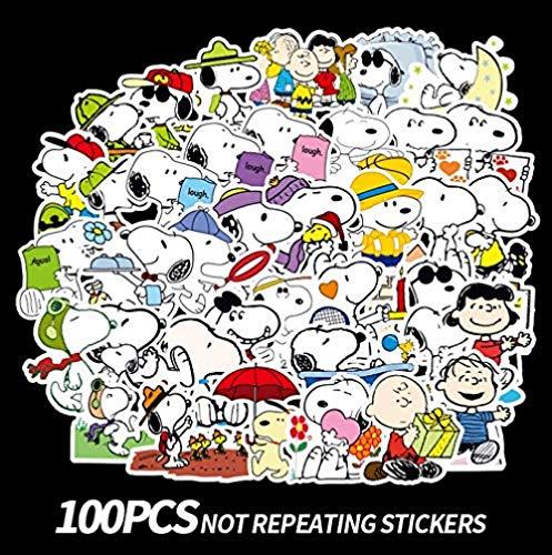votgl Snoopy Pegatina Maleta Pegatina Impermeable Marea Marca Maleta monopatín Personalidad Anime Pegatina Impermeable 100 Hojas