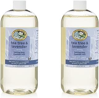 Oregon Soap Company - Foaming Liquid Hand Soap REFILL, Made with USDA Certified Organic Oils (32 oz (2 Pack), Tea Tree Lavender)