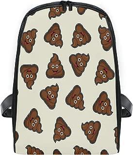 ZZXXB Emoji Poo Backpack Kids Toddler Child Preschool Kindergarten Waterproof Book Bags Travel Daypack for Boys and Girls