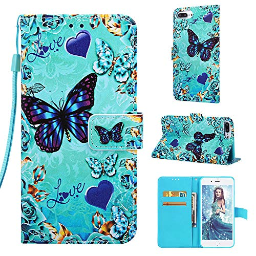 Luckyandery Funda de piel tipo cartera para iPhone 6S Plus 5.5 pulgadas, con función atril y ranuras para tarjetas de crédito para iPhone 6S Plus 5.5 pulgadas - iPhone 6s Plus, iPhone 6 S Más, color#8