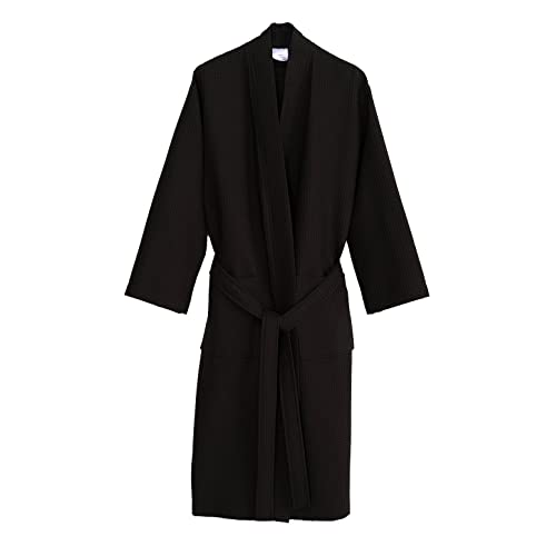 TowelSelections Turkish Cotton Waffle Bathrobe Kimono Waffle Robe Made in  Turkey c9625afb9