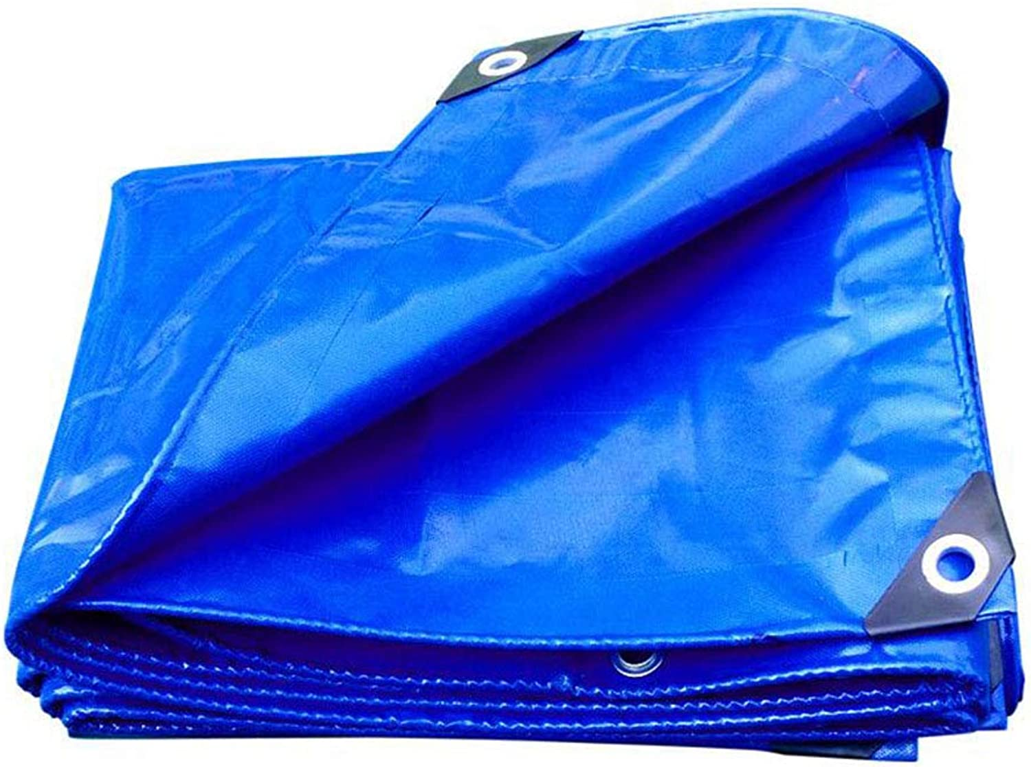 AO blueee PVC Rainproof Versatile Tarp with Eyelets for Covering Flowerbeds Predecting Furniture Camping Weather Predection (Size   5x7M)