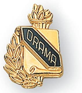 Awards and Gifts R Us 5/8 Inch Drama Lapel Pin - Package of 12, Poly Bagged