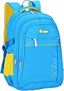 Elonglin Backpack Kids School Bags Cute Cartoon Print Little Rucksack for Toddler Children, Lightening Design, Breathable Blue S