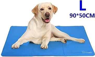 Pecute Alfombrilla de Refrigeración Animales Nevera y Manta para Perro Fresco Cojín Azul Nevera Techo Perfecta para Camas de Suelo Couch Zwinger Auto (L(50*90cm))
