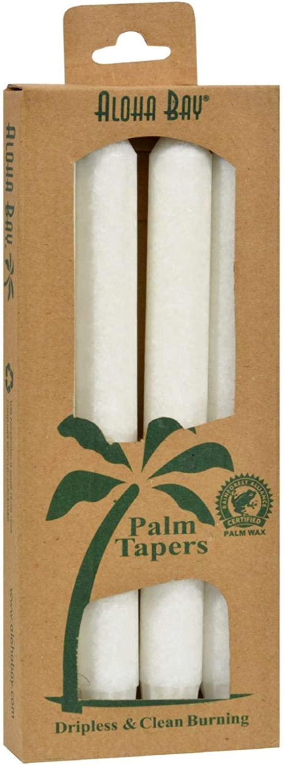 Aloha Bay Palm Popular popular Tapers Candles - Ranking TOP16 White 4